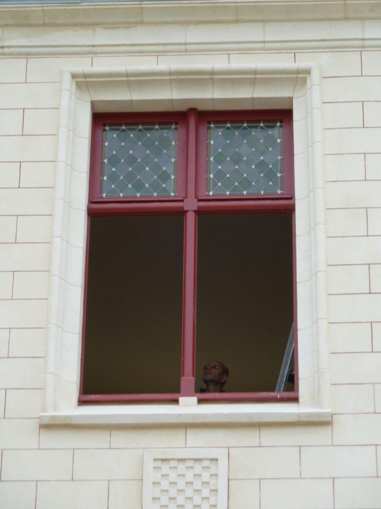 Fenêtres en bois, travail de restauration